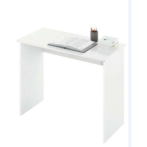 Mesa de despacho Turin roble y blanco.
