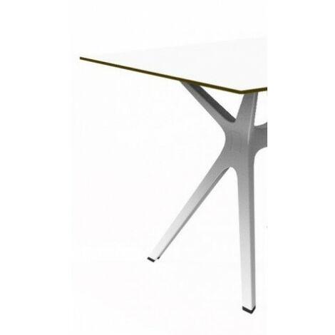 Mesa de diseñador con cristal o fenólico VELA Resol mho1032051-DESKandSIT-200x90cm 200x90cm Blanco COMPACT GRIS SILVER 1032