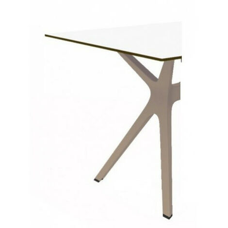 Mesa de diseñador con cristal o fenólico VELA Resol mho1032051-DESKandSIT-70x70cm 70x70cm ARENA 1032 BLANCO WHITE COMPACT