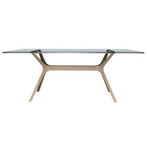 Mesa de diseñador con cristal o fenólico VELA Resol mho1032051-DESKandSIT-70x70cm 70x70cm ARENA 1032 CRISTAL