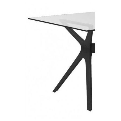 Mesa de diseñador con cristal o fenólico VELA Resol mho1032051-DESKandSIT-70x70cm 70x70cm NEGRO CRISTAL