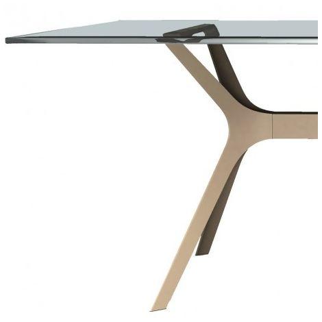 Mesa de diseñador con cristal o fenólico VELA Resol mho1032051-DESKandSIT-80x80cm 80x80cm ARENA 1032 CRISTAL