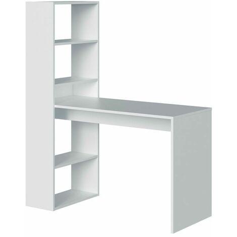 Mesa de escritorio con estantería Duplo - Blanco Artik