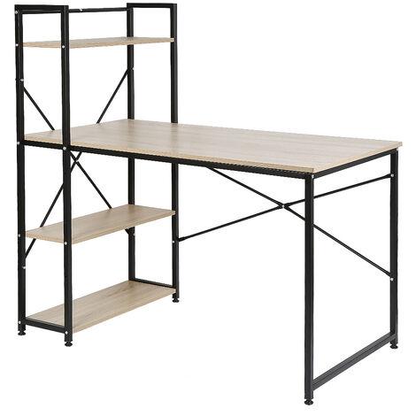 """main image of """"Mesa de escritorio con estantería, Oficina Escritorio para Computadora 120 x 64 x 121cm"""""""