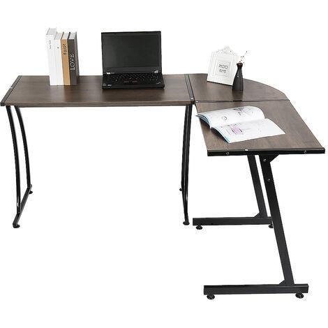 Mesa de Escritorio en Esquina - Escritorio en ángulo Computadora - Escritorio en la Oficina - 64*48*73.5cm Roble vintage