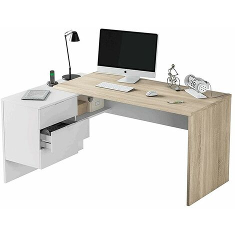 Mesa de escritorio Office BucBlanco Artik – Roble Canadian
