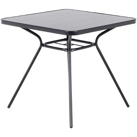 Mesa de exterior en acero negro 80x80 cm LIVO