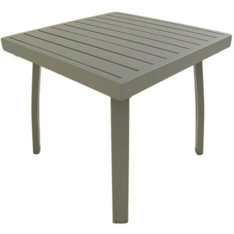Mesa de jardín auxiliar | Aluminio reforzado