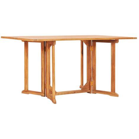 Mesa de jardín Butterfly de madera maciza de teca 150x90x75 cm