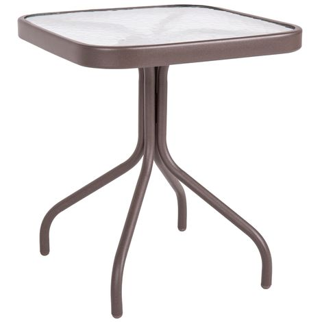 Mesa de jardín de acero marrón de 43x42x42 cm