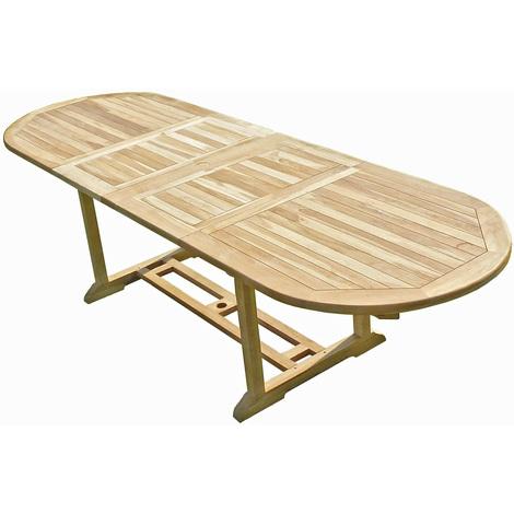 Mesa de jardín de madera de teca HENUA 10/12 personas