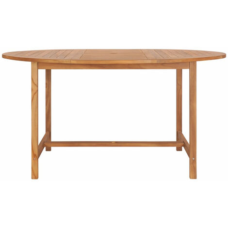 Mesa de jardin de madera de teca maciza 150x76 cm