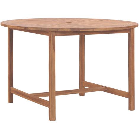 Mesa de jardin de madera maciza de teca 120x76 cm