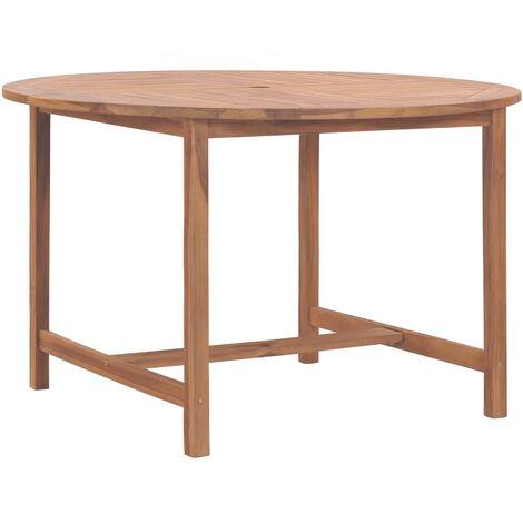 Mesa de jardín de madera maciza de teca 120x76 cm - Marrón