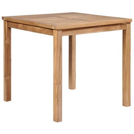 Mesa de jardín de madera maciza de teca 80x80x77 cm