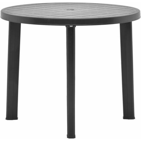 Mesa de jardín de plástico gris antracita 89 cm - Antracita
