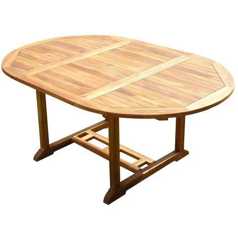 Mesa de jardín de teca SENTAK 6/8 personas - Gama de aceitado