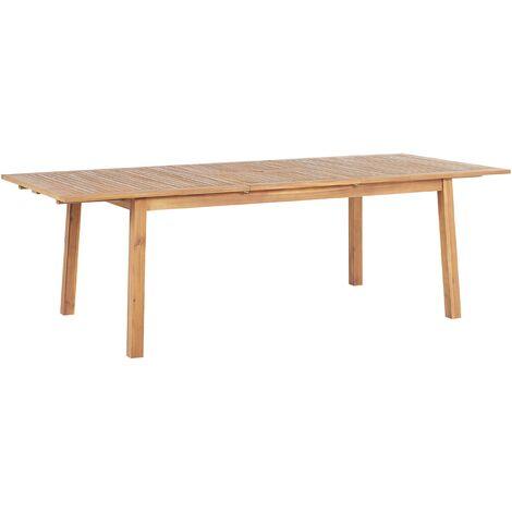 Mesa de jardín extensible madera de acacia 180/240 x 100 cm CESANA