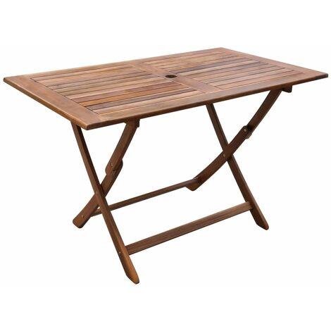 Mesa de jardín madera maciza de acacia 120x70x75 cm