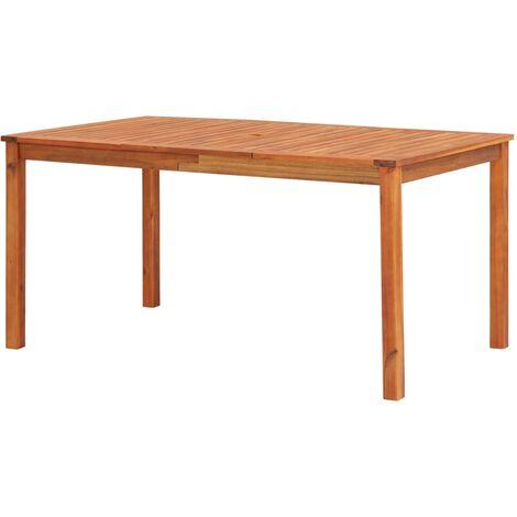 Mesa de jardín madera maciza de acacia 150x90x74 cm
