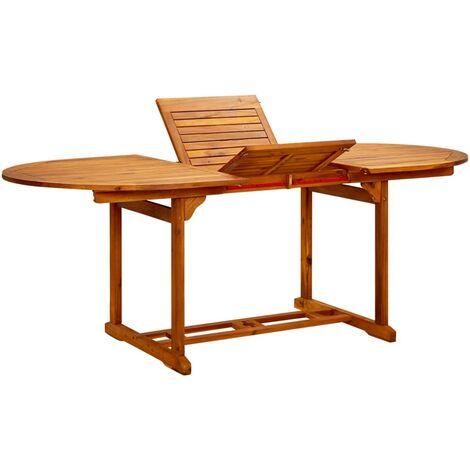 Mesa de jardín madera maciza de acacia 200x100x74 cm