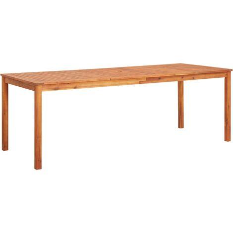 Mesa de jardín madera maciza de acacia 215x90x74 cm