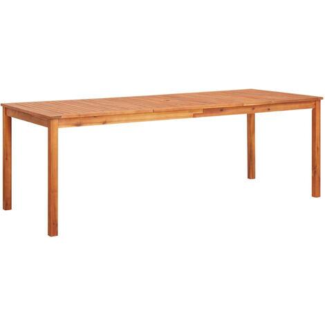 Mesa de jardin madera maciza de acacia 215x90x74 cm