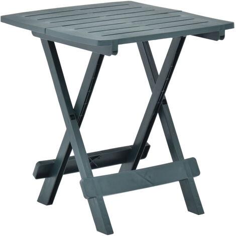 Mesa de jardin plegable de plastico verde 45x43x50 cm