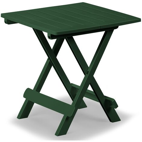 Mesa de jardín plegable Mesa auxiliar de plástico 45x43x50cm - Colores varios Verde - Verde