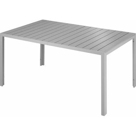 Mesa de jardín Simona - mueble para terraza de aluminio, mesa moderna para exteriores con estructura inoxidable, mobiliario para patio estable