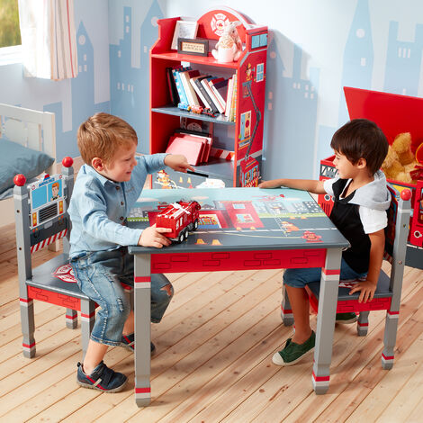Mesa de madera Lil Fire Fighters de Fantasy Fields para niños TD-12514A1