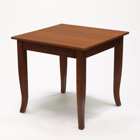 Mesa de madera maciza para posada bar y restaurante 80x80 cm GERRY
