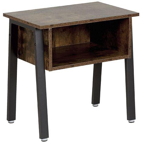 Mesa de noche madera oscura VONORE