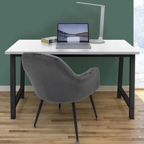Mesa de ordenador escritorio blanco negro trabajo oficina portátil PC 120x60cm