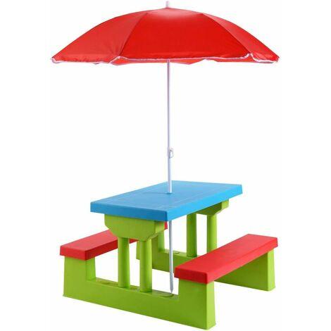 Jueguete Con Playa Mueble Niños Para Jardin Infantil Mesa Al Plegable Picnic De Libre Aire Parasol yn8mOvN0w