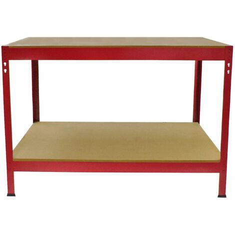 Mesa de Trabajo Q-Rax de Acero Sin Tornillos Roja