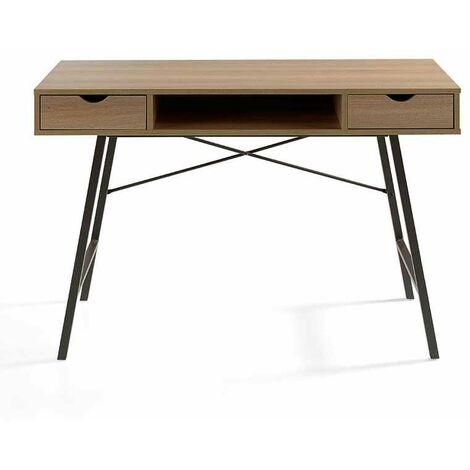 Mesa despacho moderna en acabado madera natural 77 cm(alto)120 cm(ancho)45 cm(largo)