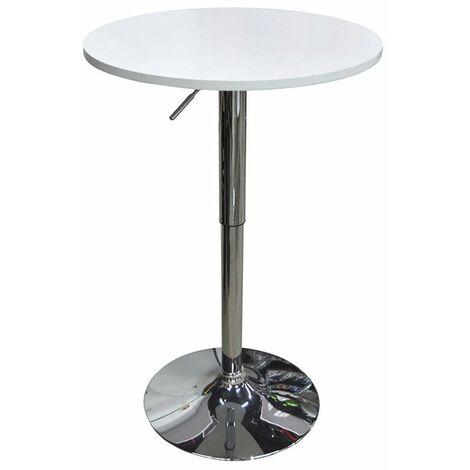 Mesa elevable blanca modelo bar 80/108cm