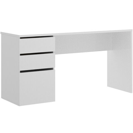 Mesa Escritorio 2 Cajon + 1 Puerta -Blanco Brillo- 75 x 139 x 60 cm