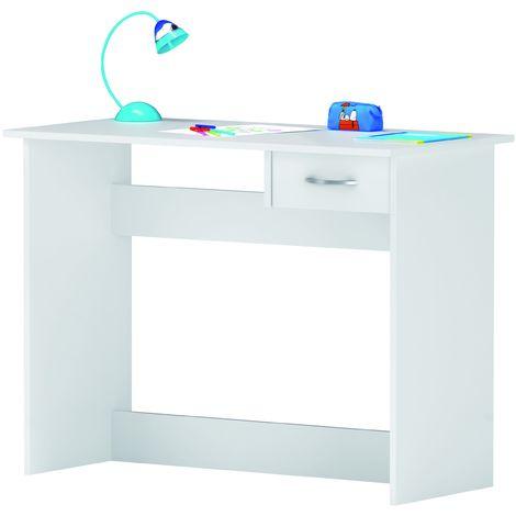 Mesa Escritorio Alpin|Blanco|Con un cajón| Color - Blanco