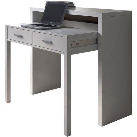 Mesa escritorio blanca 98,5 x 87,5 x 36-70 cm