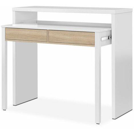 Mesa escritorio extensible de melamina