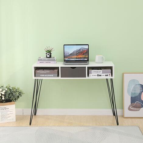 Mesa Escritorio,Escritorio de Ordenador,Mesa para jóvenes Mesa de oficina tocadores con cajones 100x35x75cm