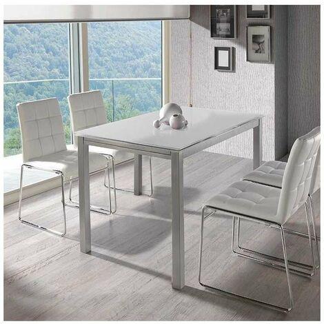 Mesa extensible salon o comedor en acabado color blanco o negro 76 cm(alto)120/180 cm(ancho)80 cm(largo)