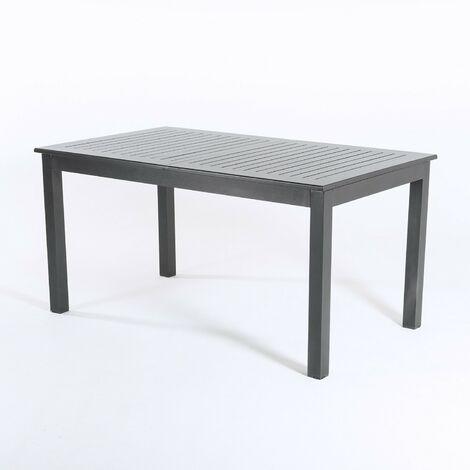 Mesa exterior extensible aluminio antracita - Portes Gratis