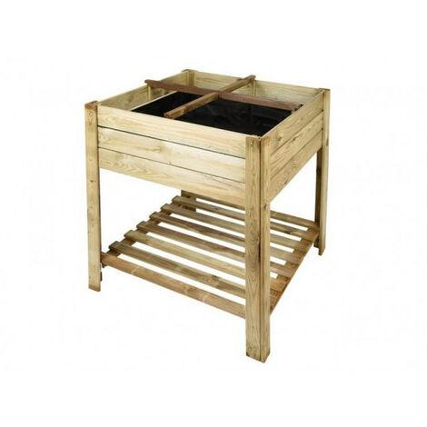 MESA HUERTO CUADRADA 80X80X70CM 130L