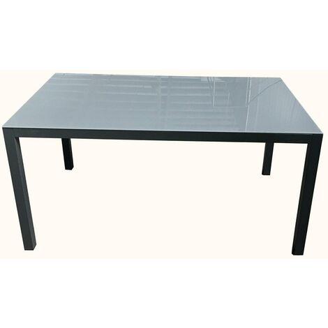Mesa Jard 150x90x72cm Natuur Aluminio/cristal Antr. Nt128257