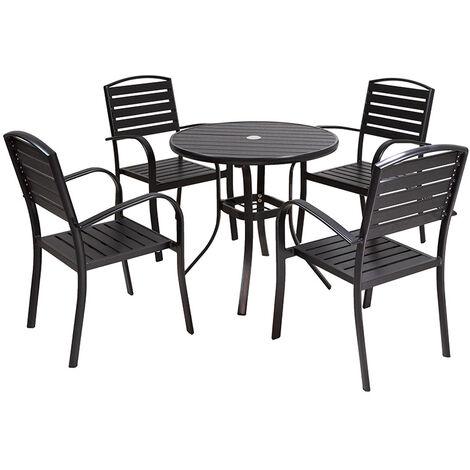 Mesa jardín + 4 sillas Lof 80x80x73 cm
