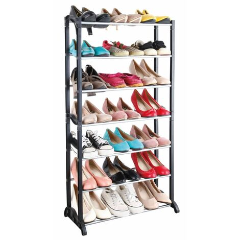 MESA LIVING Shoe Rack 7 Layers - Black