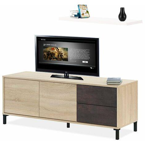 Mesa Moderna Television con ESTANTE Incluido Medidas: 130 cm (Ancho) x 47 cm (Alto)